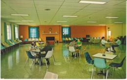 Nazareth KY Kentucky, Lodge Recreational Center Interior View, Nazareth College, Blacks, C1950s/60s Vintage Postcard - United States