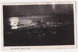 Chile Valparaiso At Night Tarjeta Postal Foto Antigua  Ca1920  Vintage Original Postcard Cpa Ak (W3_2093) - Chile