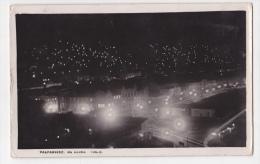 Chile Valparaiso At Night Tarjeta Postal Foto Antigua  Ca1920  Vintage Original Postcard Cpa Ak (W3_2095) - Chile