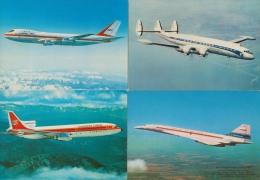 AVION AVIATION ( LOT DE 4 CARTES )  TRES BON ETAT  ! ! ! - 1946-....: Moderne