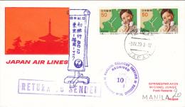 Manila Tokyo 1979 - JAL Inaugural Flight - Philippines Manille - Poste Aérienne
