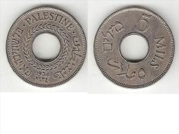 *palestina 5 Mils1934 Km 3    Vf+ !! Rare Date !!! - Monnaies