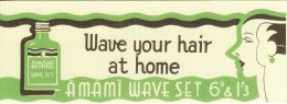 Advertising Leaflet Wave Your Hair At Home Amami Set 1920´s Hairstyle Fashion Replica - Werbung