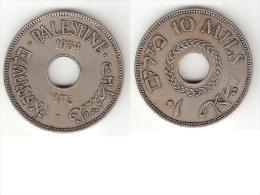 *palestina 10 Mils1934 Km 4    Vf+!!! - Monnaies