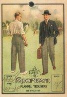 Price Ticket Label Sportown Flannel Trousers Tennis Cricket Replica - Werbung