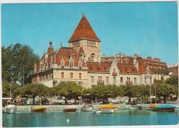 Ouchy-Lausanne: MASERATI 3500 GT,PEUGEOT 404,CITROËN TRACTION AVANT & 2CV, FORD 17M P3 -Hotel Le Chateau- Schweiz/Suisse - PKW