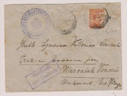 Lettera Da Tripoli Per Mercatale Vernio Con Libia Soprastampato Michetti Da 20 Cent. - Libya