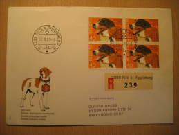 Ruti B. Riggisberg 1983 Switzerland DOG DOGS Registered Fdc Block Cover - Perros