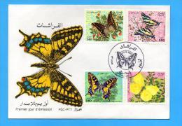 Algérie Algeria Algerien FDC Butterfly Butterflies Papillon Papillons Mariposa Mariposas 1981 - Schmetterlinge
