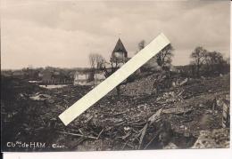 Ham Somme Le Chateau Photo Française Poilus 1914-1918 14-18 Ww1 WWI 1.wk - Guerre, Militaire