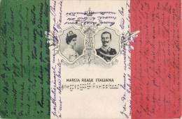 HELENE E VICTOR EMMANUEL III EL RE D'ITALIA MARCIA REALE ITALIANA 1900 - Case Reali