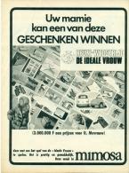 Reclame Uit Oud Magazine 1969 - Mimosa - Reuze-wedstrijd De Ideale Vrouw - Fiat 500 - Publicités