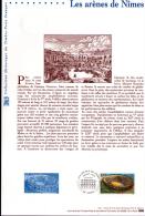 2002 - DOCUMENT OFFICIEL - LES ARENES DE NIMES - Documents De La Poste