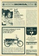 Reportage Uit Oud Magazine 1968 - Salut Les Honda Philes - Willy Mairesse - Vieux Papiers