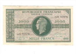 Billet De Banque 1944- Trésor CENTRAL  1000 Franc - - Trésor