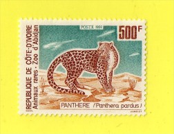 REP. DE COTE D'IVOIRE,,  **  500  F. **   PANTHERE ,,,1992 ,, NEUF SANS TRACE DE CHARNIERE - Ivory Coast (1960-...)