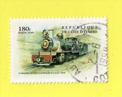 REP. DE COTE D'IVOIRE,,  **  180  F. **   CHEMIN DE FER ,, 1999 ,, TBE - Ivory Coast (1960-...)