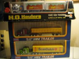 3 USA TRAILERS SCALE 1/128 - Vrachtwagens, Bus En Werken