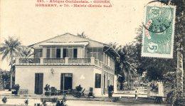 Afrique Occidentale - Guinée Konakry 70 - Mairie (entrée Sud) Avec Timbre Du Sénegal - Frans Guinee