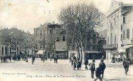 ALAIS - Place De La Mairie Et Le Theatre - Aigues-Vives