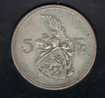 LUXEMBOURG KM 38 1929 5fr SILVER  .  (3SP28) - Lussemburgo