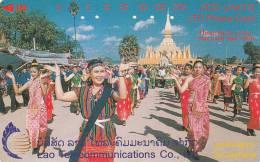 LAOS(tamura) - That Luang Festival, Tirage 60000, Used - Laos