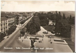 BENEVENTO - VILLA COMUNALE E VIALE DEGLI ATLANTICI - 1959 - Benevento