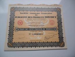 """PUBLICITE DES PRODUITS """"BOVIDEX"""" (1931) - Unclassified"""