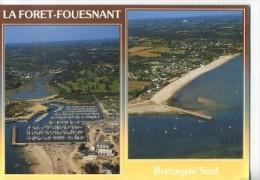 CP291284 - LA FORET-FOUESNANT - Port La Forêt Et La Plage De Kerleven - La Forêt-Fouesnant