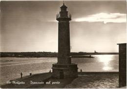 MOLFETTA  ( BARI ) TRAMONTO SUL PORTO - 1959 - Molfetta