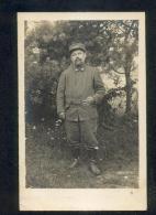 5954 - Photo Carte à Identifier :  MILITAIRES,103 Sur Le Col - Postcards