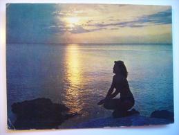 Yugoslavia: Suton Na Jadranu Adria Sunset With Woman 1963 Used - Yugoslavia