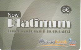 GREECE - Platinum, Road Kiosk/IRT Prepaid Card 5 Euro, Used