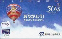Telecarte  JAPON * BALLON * MONTGOLFIERE (973) Hot Air Balloon * SPORT * Aerostato  PHONECARD JAPAN * - Sport