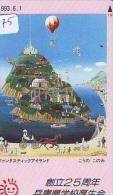 Telecarte  JAPON * BALLON * MONTGOLFIERE (975) Hot Air Balloon * SPORT * Aerostato  PHONECARD JAPAN * - Sport
