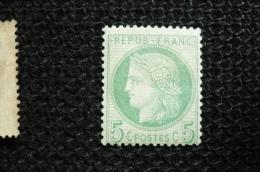 France  Ceres  5c    N°53  Neuf  * Avec  Charnière - 1871-1875 Ceres