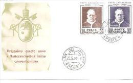 79802)  FDC Del Vaticano Serie Completa- Patti Lateranensi-25-5-1959 - FDC