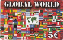 GREECE - Flags, Global World, Best Telecom Prepaid Card 5 Euro, Used - Greece
