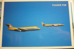 TAT   FOKKER 28 ET METROLINER  EDITION COMBIER - 1946-....: Moderne