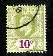 375 X)  Ceylon -1910  SG# 294  (o) Sc 183   Cat. £2.75 - Ceylon (...-1947)