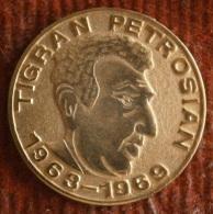 Chess Grandmaster  - TIGRAN PETROSJAN - Gilt  Little Plaque, Medal - Altre Collezioni