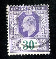 376 X)  Ceylon -1905  SG# 285  (o) Sc 188   Cat. £3.00 - Ceylon (...-1947)