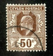378 X)  Ceylon -1904  SG# 296  (o) Sc 189   Cat. £7.50 - Ceylon (...-1947)