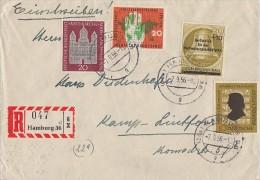 Bund R-Brief Mif Minr.234,238,240, Berlin 155 Hamburg 7.9.56 - BRD