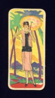 Carte De Parfum. Dos Avec Publicité D´une Lingerie (3,5 X 8 Cms) (Ref.102561) - Oud (tot 1960)