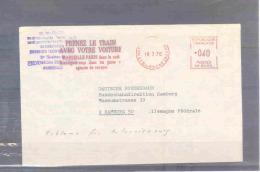 Rép. Française - Prenez Le Train Avec Votre Voiture - Marseille-Paris Dans La Nuit - Marseille 18/3/1970  (RM1814) - Trains