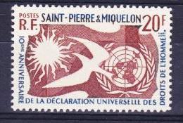 ST PIERRE ET MIQUELON  1958 YT 358 *    MH   TB - Neufs