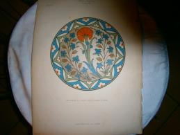 PLANCHE L ART ET L INDUSTRIE  PLAT DE RHODES  ANNEE 1886 - Planches & Plans Techniques