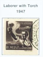 ROMANIA - 1947 Air Trade Union Congress Used As Scan - 1918-1948 Ferdinand, Carol II. & Mihai I.