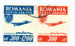 ROMANIA - 1946 Air Sports Joined Pair Used As Scan - 1918-1948 Ferdinand, Carol II. & Mihai I.